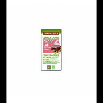 Chocolat au lait Rubarbe Quinoa bio & équitable