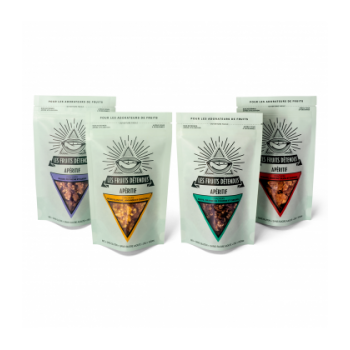 LES FRUITS DETENDUS - Pack 4 apéros crackers bio, cru & vegan