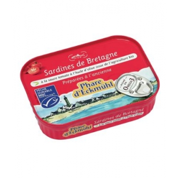 PHARE D'ECKMÜHL - Sardines à la sauce tomate et à l'huile d'olive bio