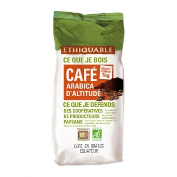 ETHIQUABLE Café 1 kg Equateur GRAINS bio & équitable