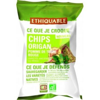 ETHIQUABLE Chips Origanl de Pomme de Terre Rouge - bio & équitable