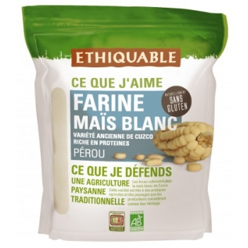 Farine de maïs blanc bio & équitable - natrellement sans gluten, bio & équitable