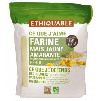 Farine de maïs jaune et amarante - natrellement sans gluten, bio & équitable