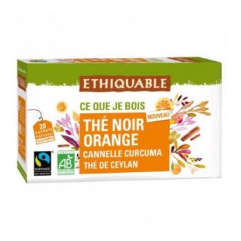 Thé noir Orange, Canelle et Curcuma bio & équitable