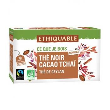 Thé noir cacao tchaï de Ceylan bio et équitable