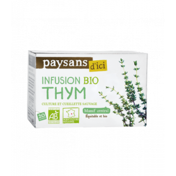 Infusion Thym Massif Central  bio & équitable