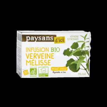 Infusion Verveine Mélisse  Massif Central  bio & équitable