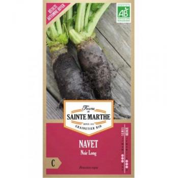 Navet Noir Long - Semences reproductibles bio
