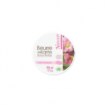 NATURADO - Beurre de Karité Bio à la Rose Musquée 150ml