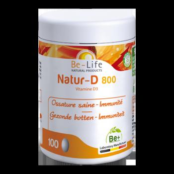 Natur-D 800 (Vitamine D3) 100 capsules - Belife