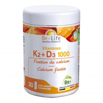 Vitamines K2-D3 1000 30 gélules - Belife