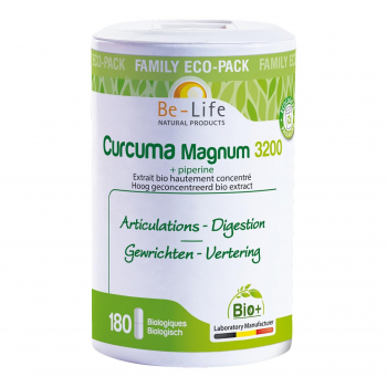 Curcuma Magnum 3200 + pipérine 180 gélules Bio - Belife
