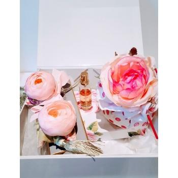 Coffret senteur & déco maison Rose Bonbon - Atelier Catherine Masson
