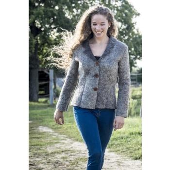 Veste tailleur en laine feutrée pour femme **Bora** Taille 38