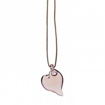 Adult love pendant pink glass