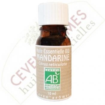 Huile essentielle bio de mandarine - 10 ml - Ceven'Arômes
