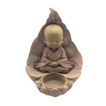 Statuette Décoration Feng Shui Bougeoir Bouddha 2