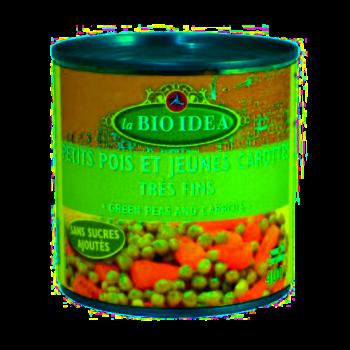 Petits pois carottes 400g--la bio idea