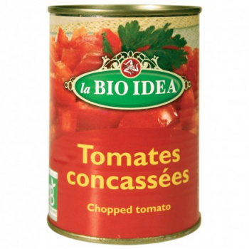 Tomate concassée 400g (boîte métal)--la bio idea