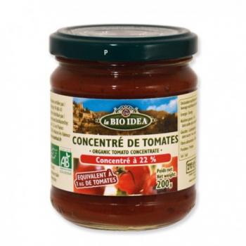 Concentré de tomate 22% 100g--la bio idea