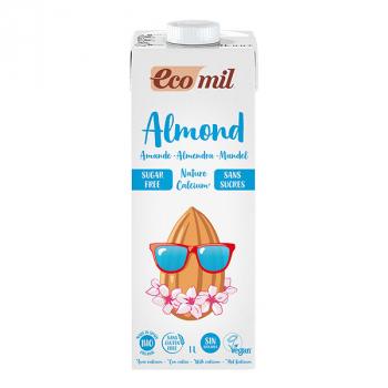Boisson végétale Bio Amande Nature Sans Sucres 1L-Ecomil