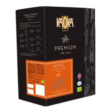 Pépites chocolat noir 60% 5kg--KAOKA