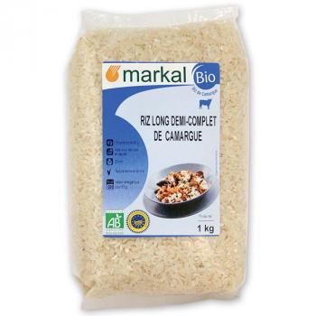 Riz long 1/2 complet de camargue 1kg MARKAL