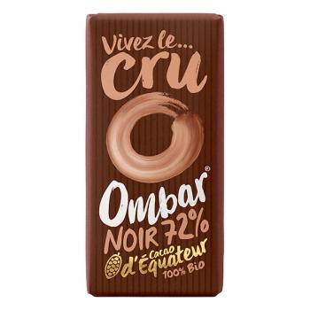 Chocolat Cru 72% Cacao 35g Bio - Ombar