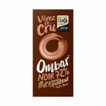 Chocolat Cru 72% Cacao 70g Bio - Ombar
