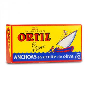 Filets d'anchois a l'huile d'olive bio 47g ORTIZ