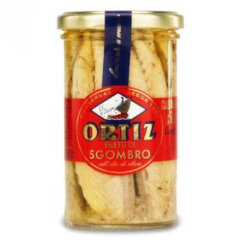 Filets de maquereaux a l'huile d'olive bio bocal verre 250g ORTIZ