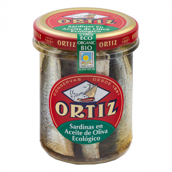 Sardines a l'huile d'olive bio bocal verre 190g ORTIZ