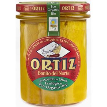 Thon albacore a l'huile d'olive bio bocal verre 220g  ORTIZ