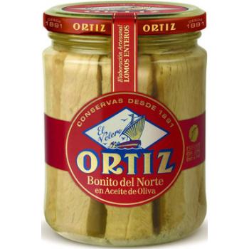 Ortiz - Thon Blanc Germon A L'huile D'olive Bio Bocal Verre 220g