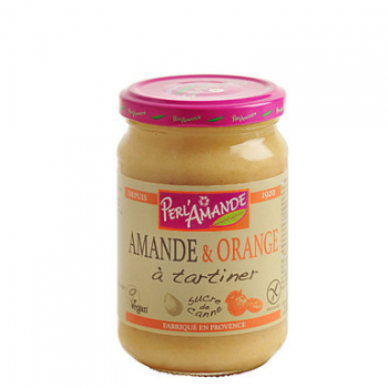 Tartinade amande/orange au sucre de canne 300g --perl'amande