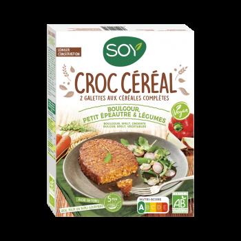 Croc'céréal boulgour,petit épeautre,légumes 2x100g  Soy
