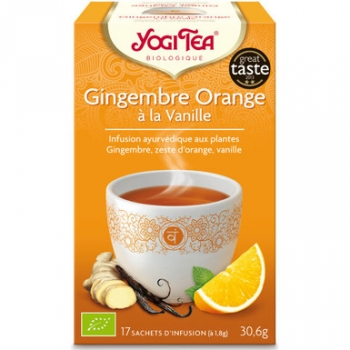 Infusion gingembre orange vanille 17 infusettes 30,6g - YOGI TEA