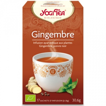 Infusion gingembre 17 infusettes 30,6g - YOGI TEA