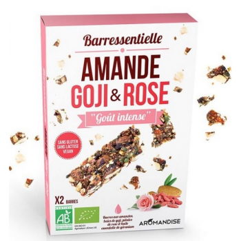 Barre amande goji rose, 50 g