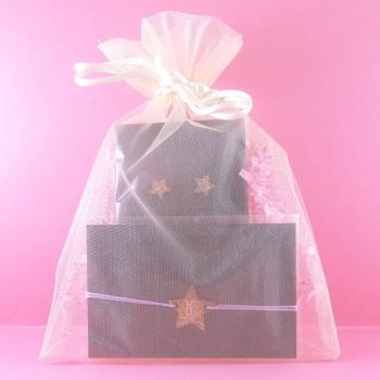 Pochette cadeau-Bijoux-Puces d'oreilles + Bracelet-Etoiles- LES FOLLES MARQUISES