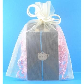 Pochette cadeau-Bijoux-Puces d'oreilles + Bracelet-Théières- LES FOLLES MARQUISES