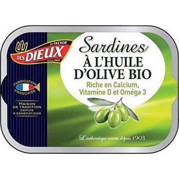 Sardines à l'huile d'olive Bio, 115 g