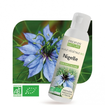 Nigelle (Cumin noir) BIO - Huile végétale vierge 100 ml