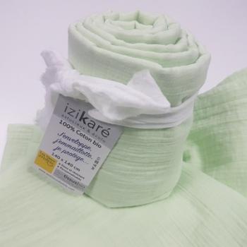 Maxi carré en coton bio Izikaré Vert d'eau
