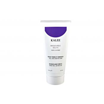 Masque argile violette peaux ternes et sensibles.