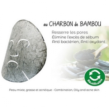 Masque Hydratant Konjac enrichi au Charbon de Bambou