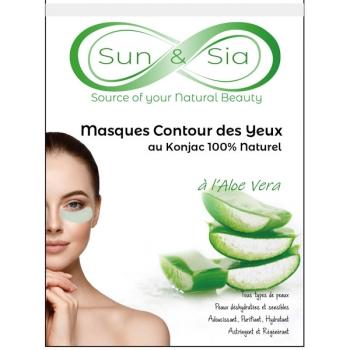 Masque pour le Contour des Yeux au Konjac enrichi à l'Aloe Vera