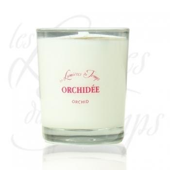 Bougie Végétale parfumée orchidée - 180 g - Les Lumières du Temps
