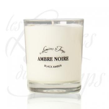 Bougie Végétale parfumée Ambre noire - 180 g - Les Lumières du Temps