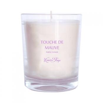 Bougie Végétale parfumée Touche de mauve - 180 g - Les Lumières du Temps
